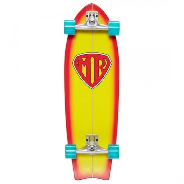 Quiksilver Mr Super 31'' Yellow Surfskate Completo