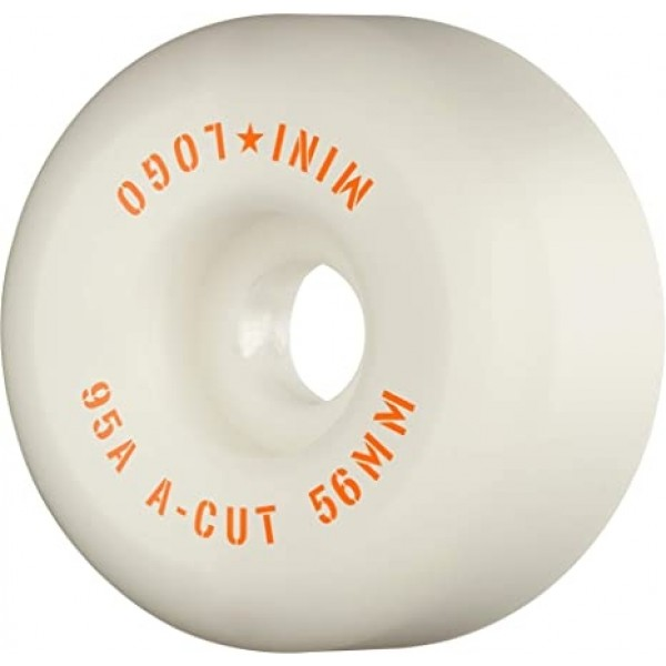 Mini logo A cut 56mm 95A white Ruedas de skateboard