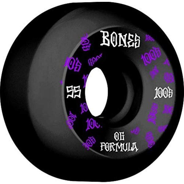 Bones 100´s #11 V5 55mm black Ruedas de skateboard