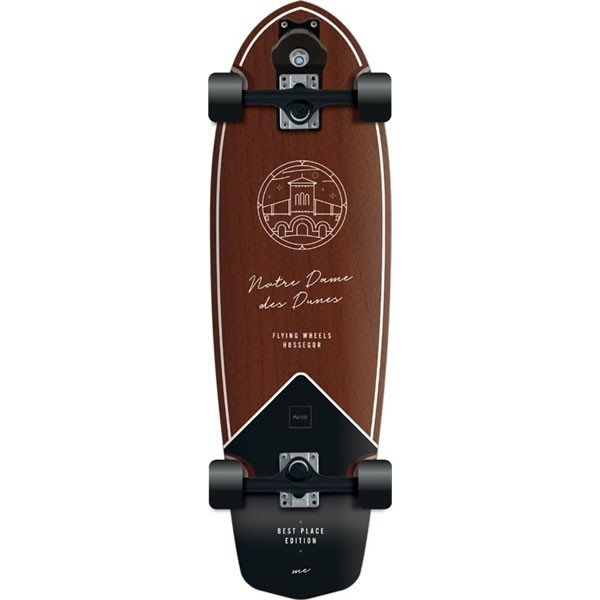 "Flying Wheels Best Place 31,5"" brown surfskate completo"