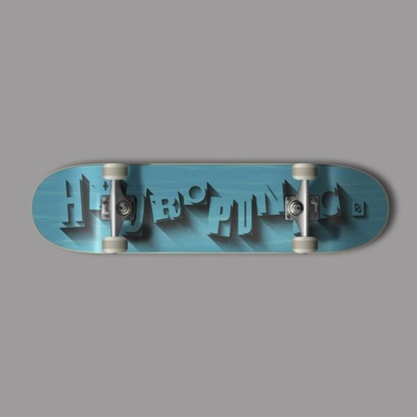 Hydroponic Volume cian 7,875'' skateboard completo