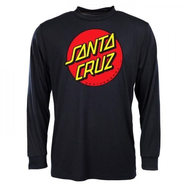 Santa Cruz Classic dot black 2021 camiseta manga larga