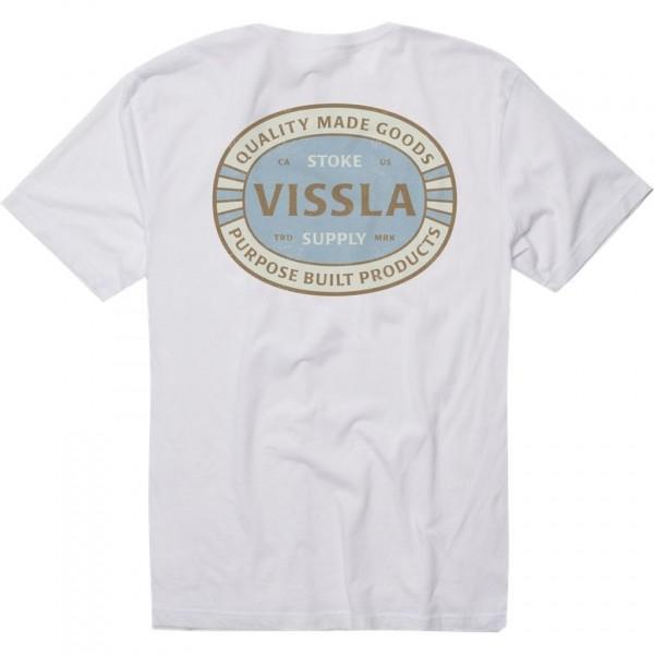 Vissla Crossroads white 2021 camiseta
