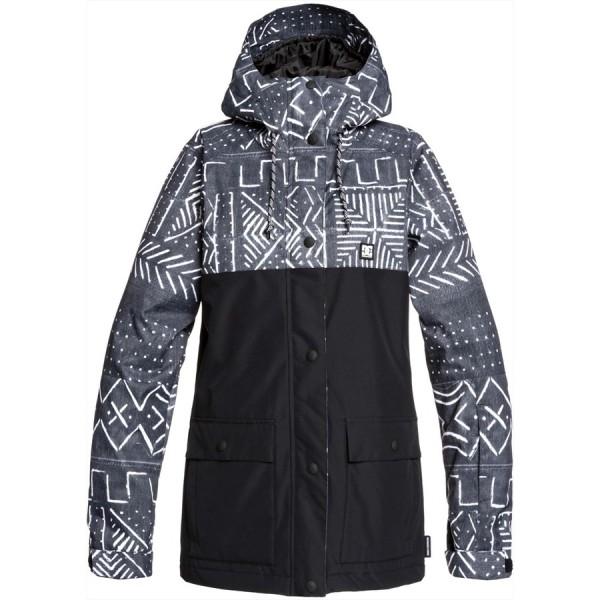 Dc Cruiser black mud cloth kvj6 2020 chaqueta de snowboard de mujer