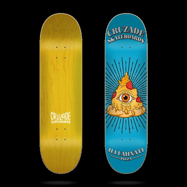 Cruzade Illuminati pizza 8.0'' Tabla de skateboard