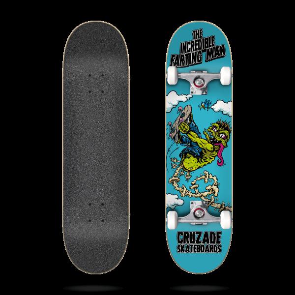 Cruzade The Incredible Farting Man 8.125″ Skateboard completo
