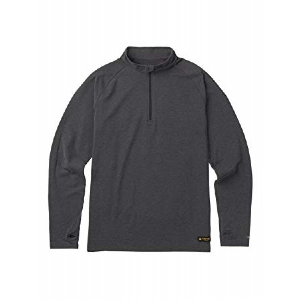 burton expedition 1/4 zip negro 2019 forro polar de snowboard