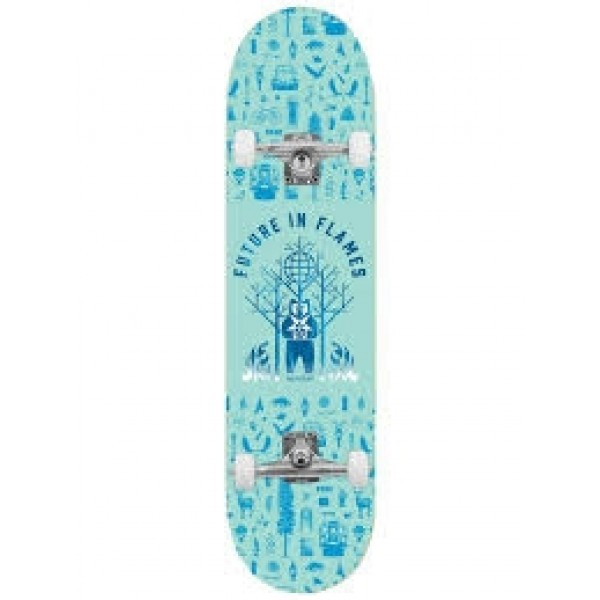 Jart Future in flames blue 7.75 x 31.125'' Habitat comp Skateboard completo