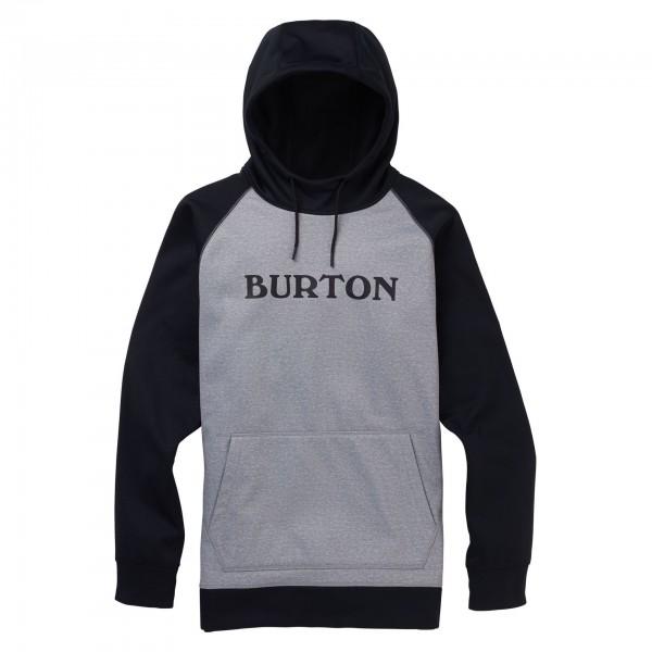 Burton Crown bonded po grey black 2020 sudadera técnica de snowboard