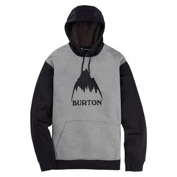Burton Oak pullover grey heather true black heather 2021 sudadera técnica-L