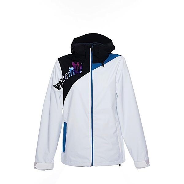 volcom mellea blanco s 2014 chaqueta de snowboard de mujer