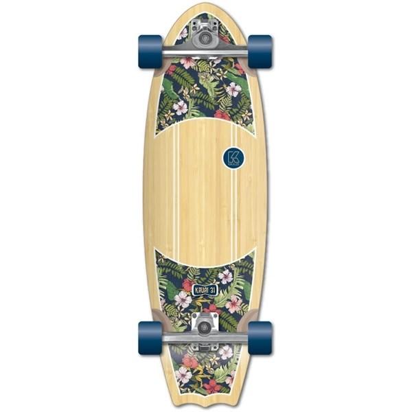 """Kruuze Kauai 31"""" hibiscus Surfskate"""