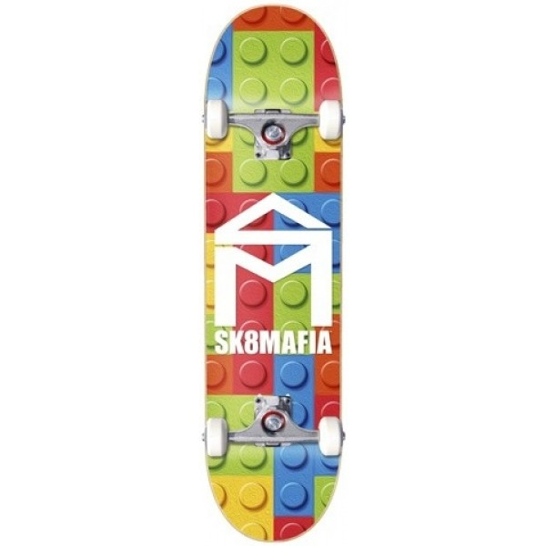 "Sk8 Mafia House Logo Lego 7,87"" skateboard completo"