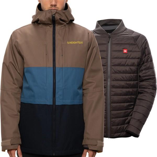 686 Smarty 3 in 1 form tobacco 2021 chaqueta de snowboard