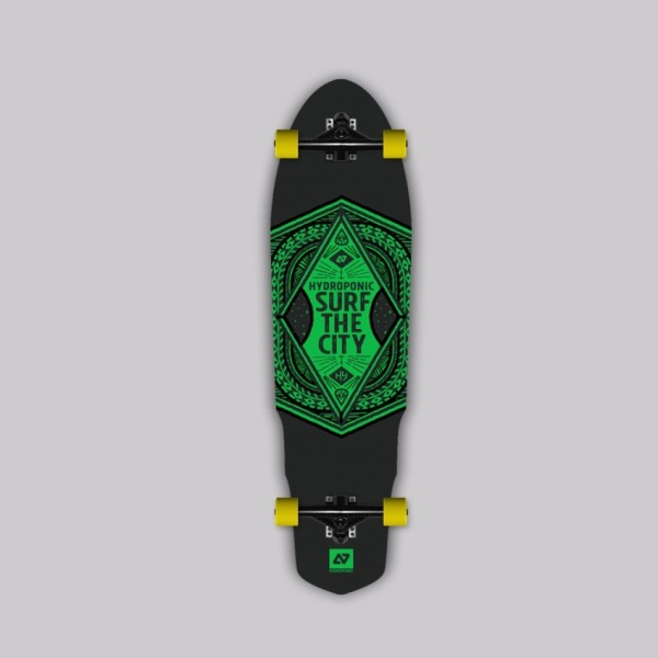 Hydroponic Surf the city 2.0 Green Longboard completo