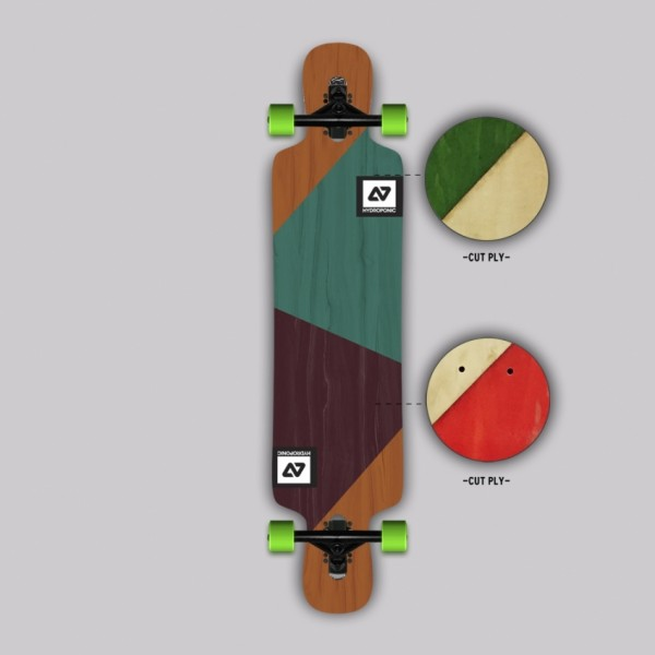 Hydroponic DT 3.0 CUT PLY Longboard completo