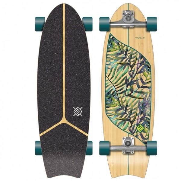 Flying wheels Moorea Leaf 31'' Surfskate completo