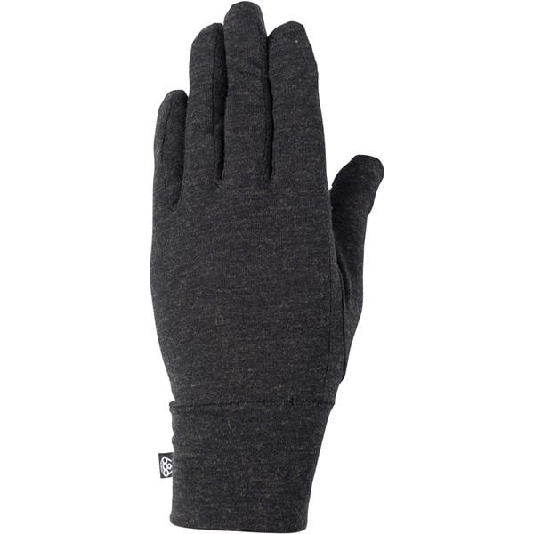 686 Merino liner black 2021 guantes interiores de snowboard