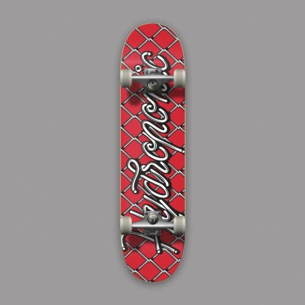 Hydroponic Net rojo 8,0'' skateboard completo