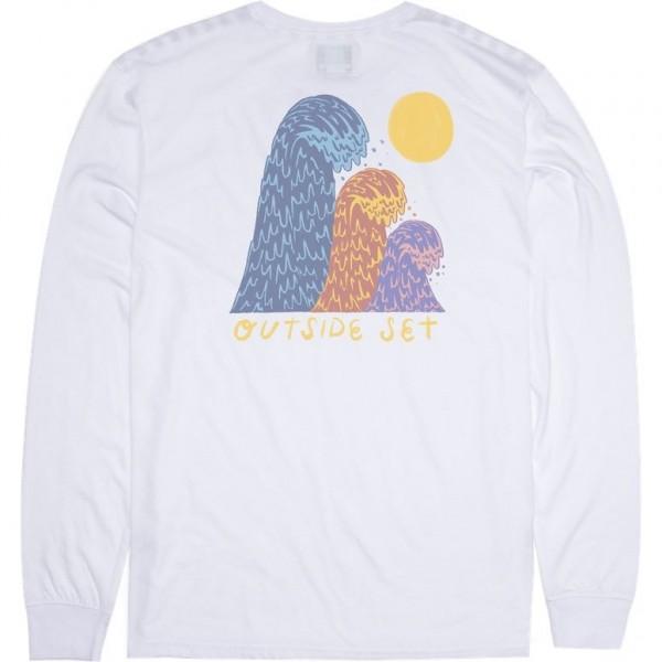 Vissla Outside sets white 2020 camiseta de manga larga