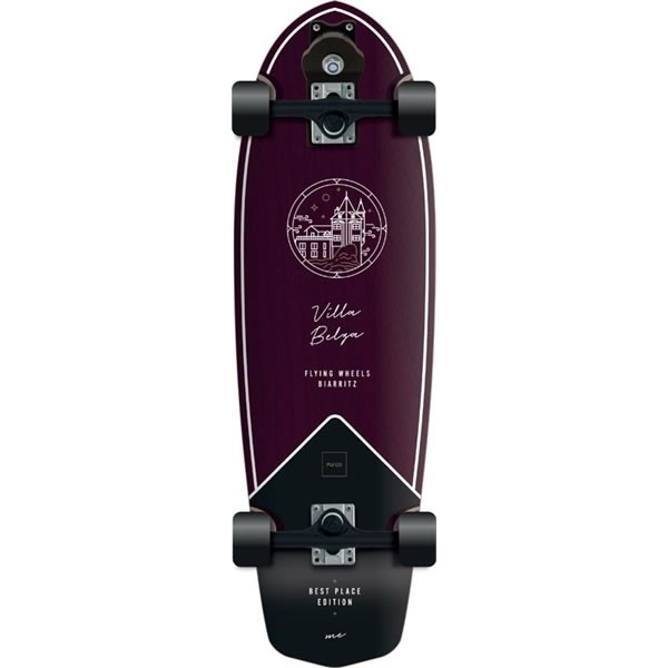 "Flying Wheels Best Place 31,5"" purple surfskate completo"