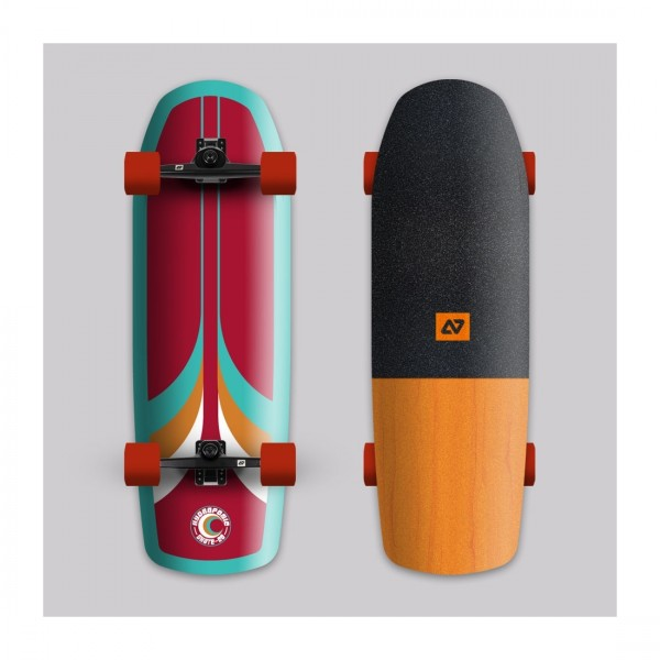 Hydroponic Surf 70´s rojo Surfskate completo
