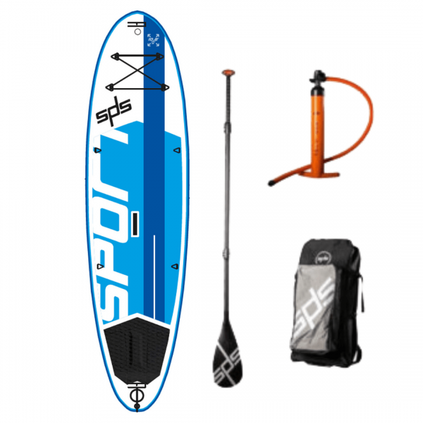 "SPS Hinchable Sport 10´2"" x 34""x 5"" pack completo paddle surf"