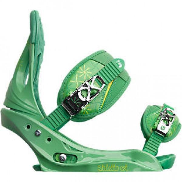 burton stiletto est  verde l 2013 fijaciones de snowboard