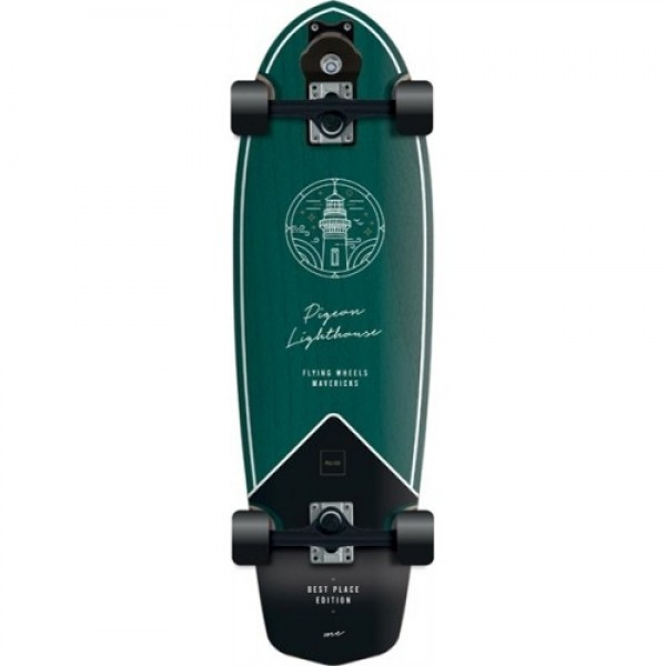 """Flying Wheels Best Place 31,5"""" green surfskate completo"""