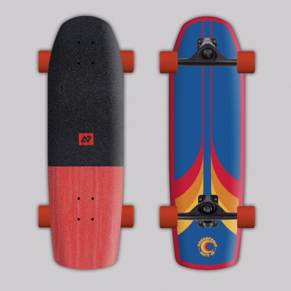 Hydroponic Surfskate surf 70's blue Surfskate completo