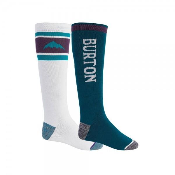 Burton Weekend white green 2021 calcetines de snowboard-L