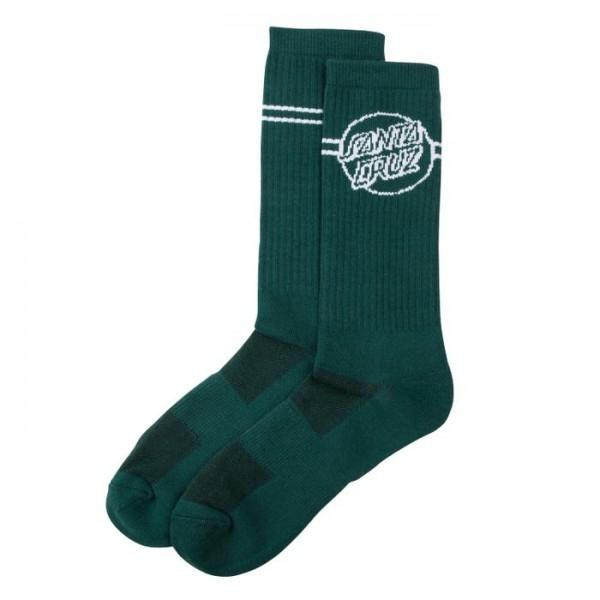 Santa Cruz Opues dot stripe  green calcetines