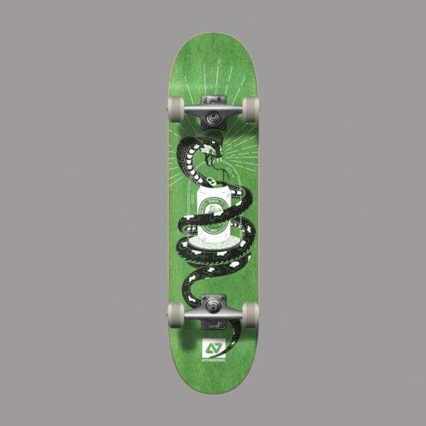Hydroponic Snake verde 7,875'' skateboard completo