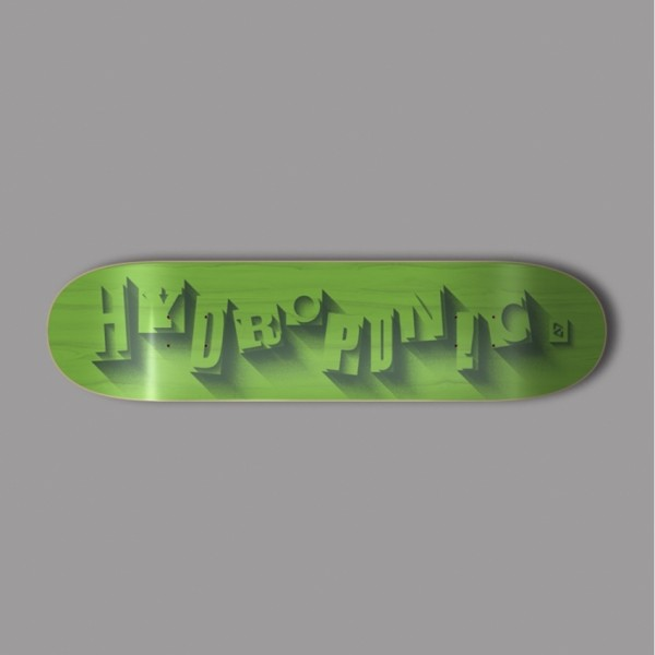 Hydroponic Volume verde 8,5'' tabla de skate