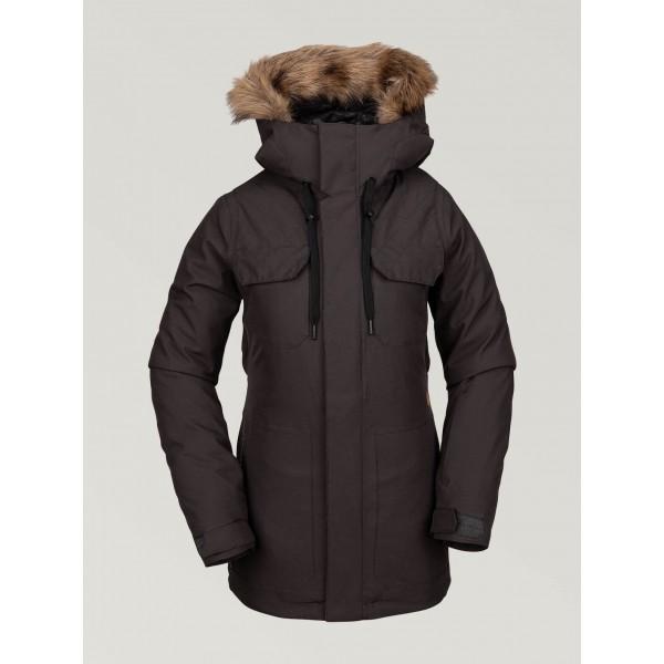 Volcom Shadow Ins vintage black 2020 chaqueta de snowboard de mujer