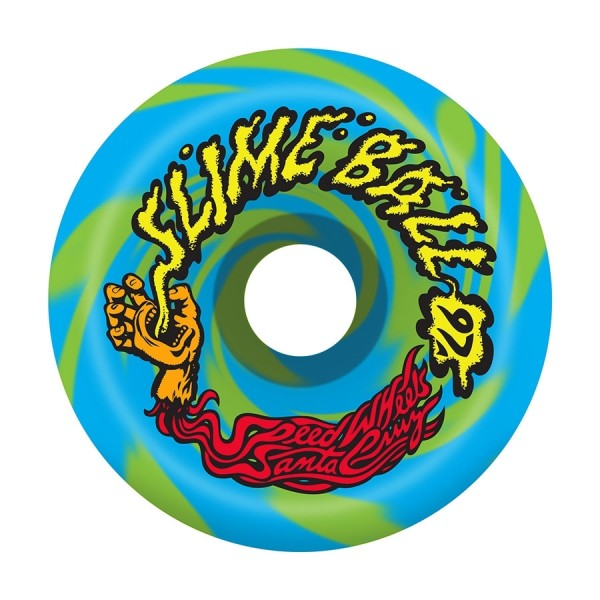 Santa Cruz Vomits swirl 60mm 97A blue green Ruedas de skateboard