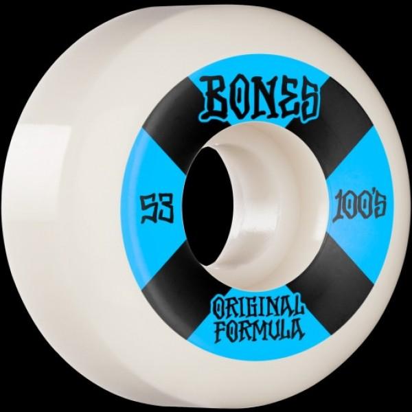 Bones 100´s #4V5 53mm white Ruedas de skateboard