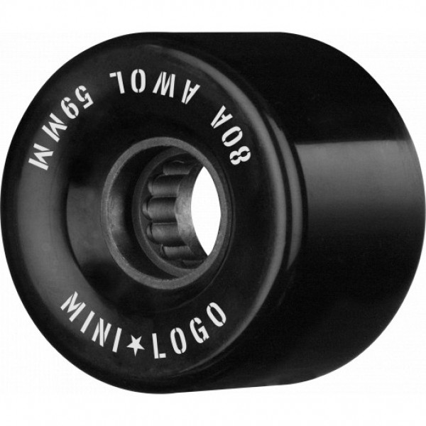 Mini logo AWOL 59mm 80A black Ruedas de skateboard