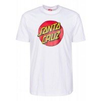 Santa Cruz Classic dot white 2020 camiseta