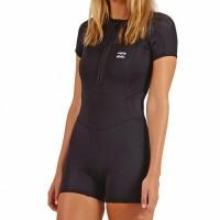 Billabong Synergy 1mm front zip short sleeve black 2020 neopreno de mujer