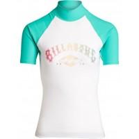 Billabong Logo seagreen SS Licra de surf de mujer