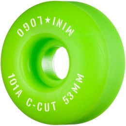 Mini logo A cut 53mm 101A Green Ruedas de skateboard