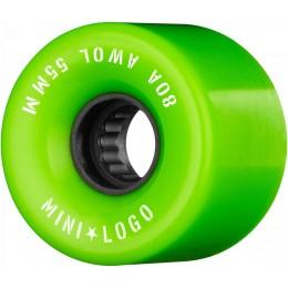 Mini logo AWOL 55mm 80A green Ruedas de skateboard