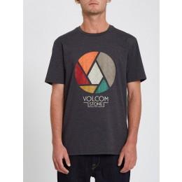 Volcom Splicer heather black 2022 camiseta