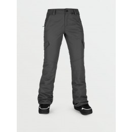 Volcom Bridger insulated dark grey 2021 pantalon de snowboard de mujer