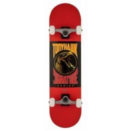 "Tony Hawk 180 Bird Logo 8"" red skateboard completo"