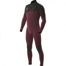 Vissla Seven seas 3/2 full chest zip burgundy neopreno