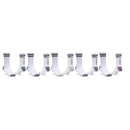 Globe Carter crew white 5 pack calcetines