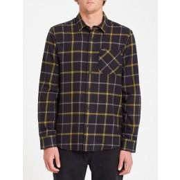 Volcom Caden plaid black 2022 camisa