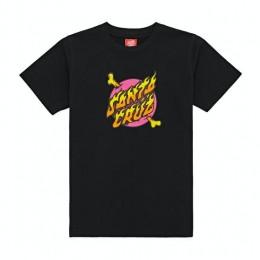 Santa Cruz Crossbone dot black 2021 camiseta de niño